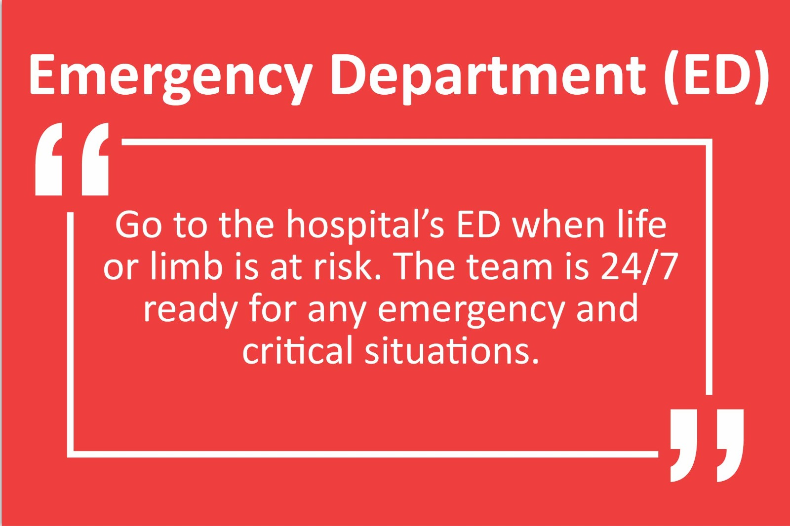 Accident & Emergency (A&E)